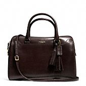 legacy pinnacle large haley satchel in polished leather