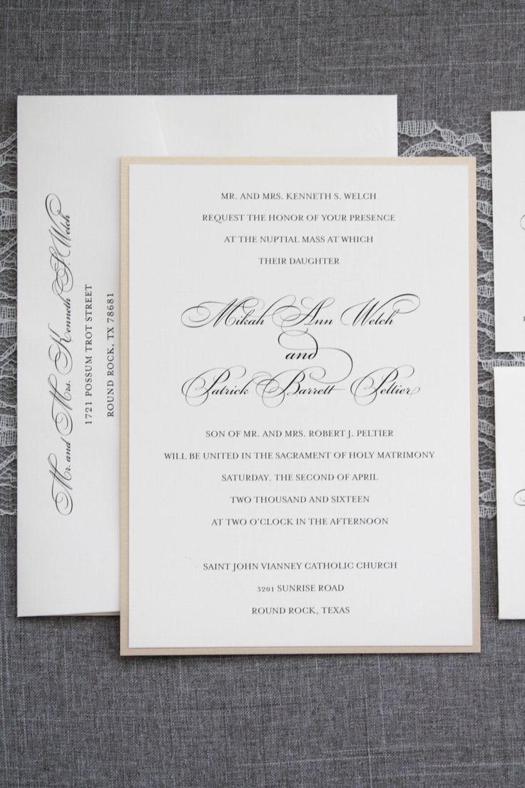 Traditional Wedding Invitations Samples