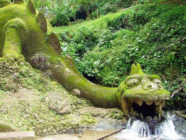 The dragon outside Jatijajar Cave, Central Java.
