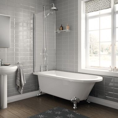 1670 Freestanding Single Ended Bath With Screen In 2019