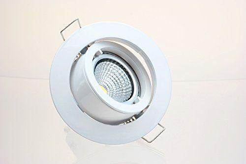 http://ift.tt/1O2I8dw 5 x LED-Einbaustrahler PAGO 230V 35 Watt (= 5 x 40 Watt Leuchtkraft) inkl. austauschbarem LED-Leuchtmittel in Warm-Weiß  Farbe: Weiß #a$