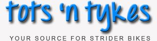 Tots 'n Tykes is an online store for strider bikes parts and accessories in Calgary Alberta http://www.totsntykes.ca