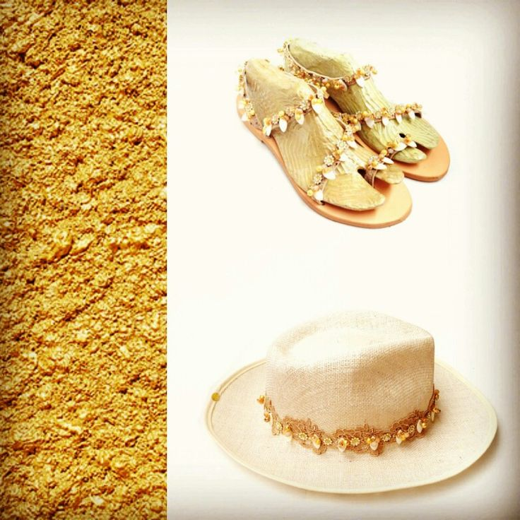 Sweet and beautiful, small and full, white and honey-gold!! Honeysuckle model is the absolute elegant piece of art that must be your companion this summer! New Summer Collection 2016! Available now in Stores! #honeysuckle #gold #sandal #hat #elegance #newsummercollection2016 #availablenow #pieceofart