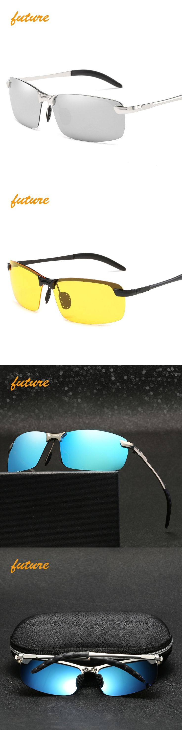 New Arrival Men's Glasses Car Drivers Night Vision Goggles Anti-Glare Polarizer Sunglasses Men Aluminum Magnesium Shades Brand