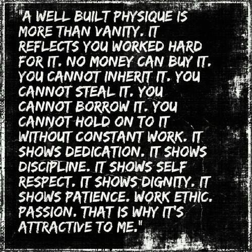 more than an exercise in vanity These tendencies to move and build muscle in a certain way are made more  full stop, and then becoming obsessive, or seeing this as an exercise in vanity.