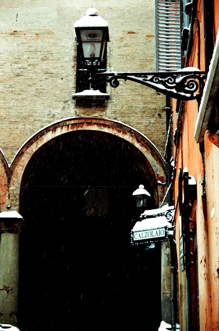 #Bologna, under the snow for days, february 2012 (shot with my film camera)