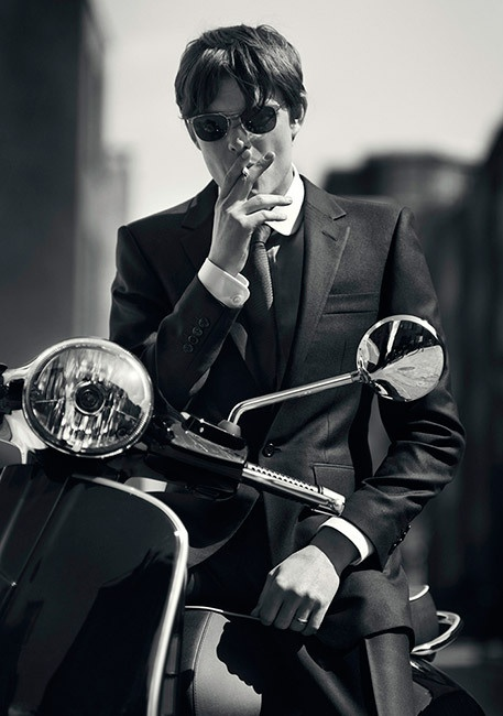 Vespa, adds to the Dude Coolness factor too!