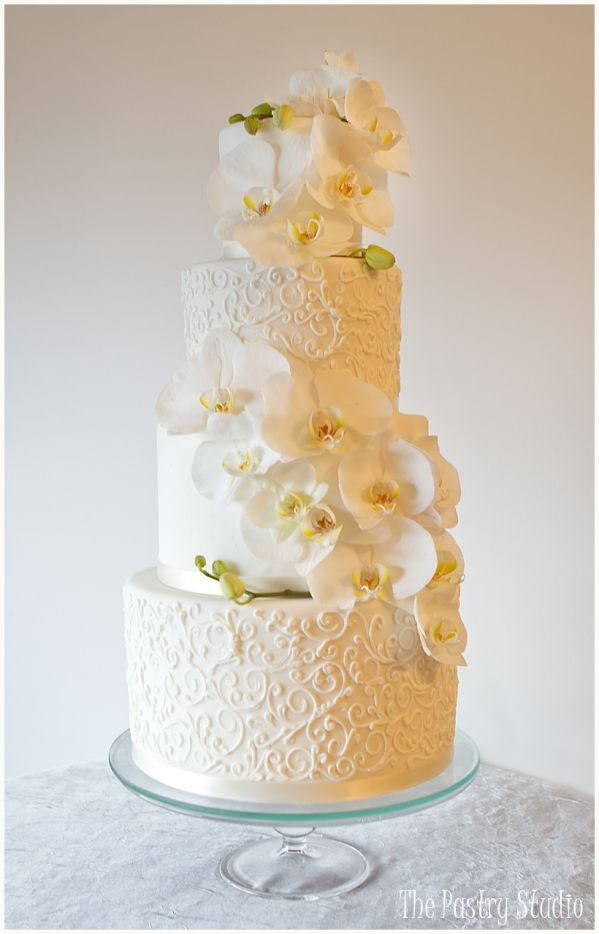 Follow Us Signaturebride On Twitter And Facebook At Signature Bride Magazine Cakes Toppers Pinterest Orchid Wedding Cake