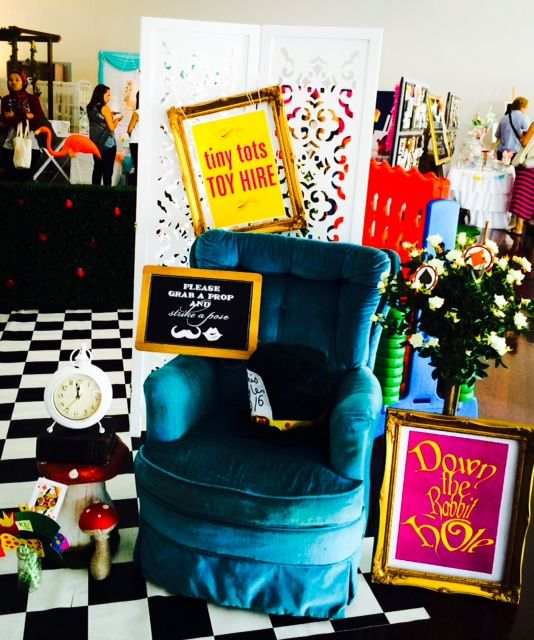 Photo booth - styling and props by Tiny Tots Toy Hire