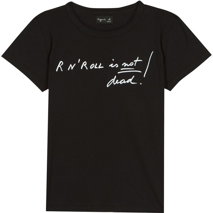 t-shirt rock n' roll noir