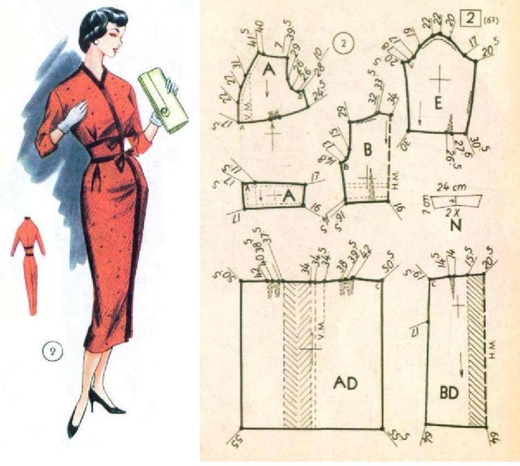 1950s dress.