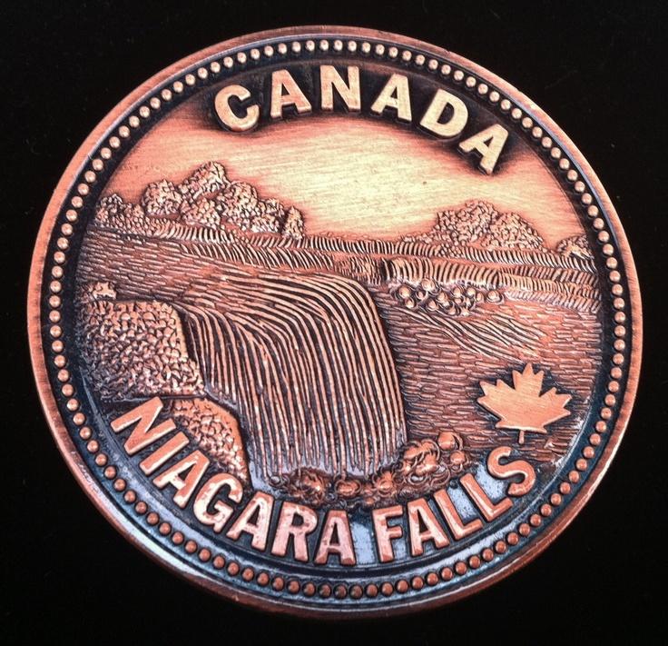 CANADA NIAGARA FALLS TORONTO ONTARIO PENNY BELT BUCKLE BOUCLE DE CEINTURE PAYS
