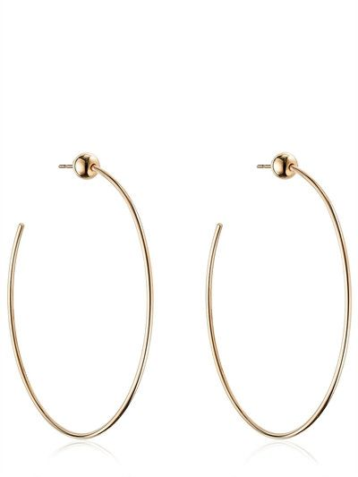 VITA FEDE - SFERA HOOP EARRINGS - EARRINGS - ROSE GOLD - LUISAVIAROMA
