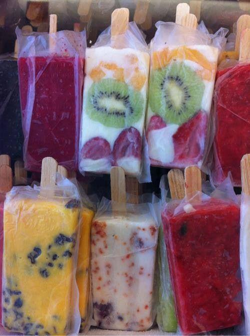 Paletas de frutas, Mexico. (dream Mexican ices!)