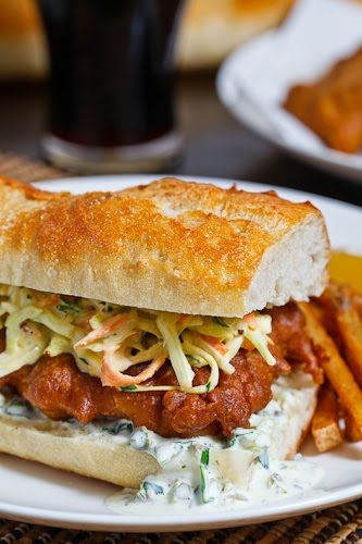 Crispy Beer-Battered Fish Sandwich from Closet Cooking