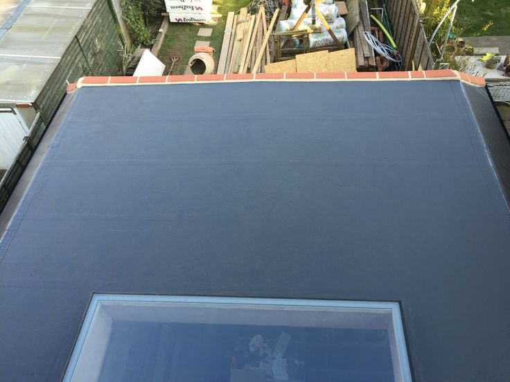 GRP roof incorporating large window