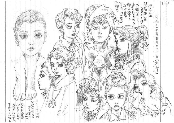 THE SEIJI pencil Diary20170323 girl art drawing illustration