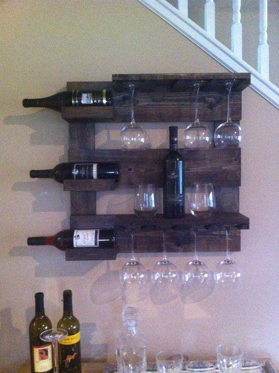 top wine rack rustic wine rack reclaimed woodwall wine by with les casiers du manoir. Black Bedroom Furniture Sets. Home Design Ideas