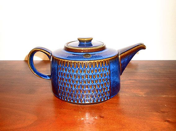 Vintage Danish Design Søholm Stentøj Blue Pottery by SunnysVintage
