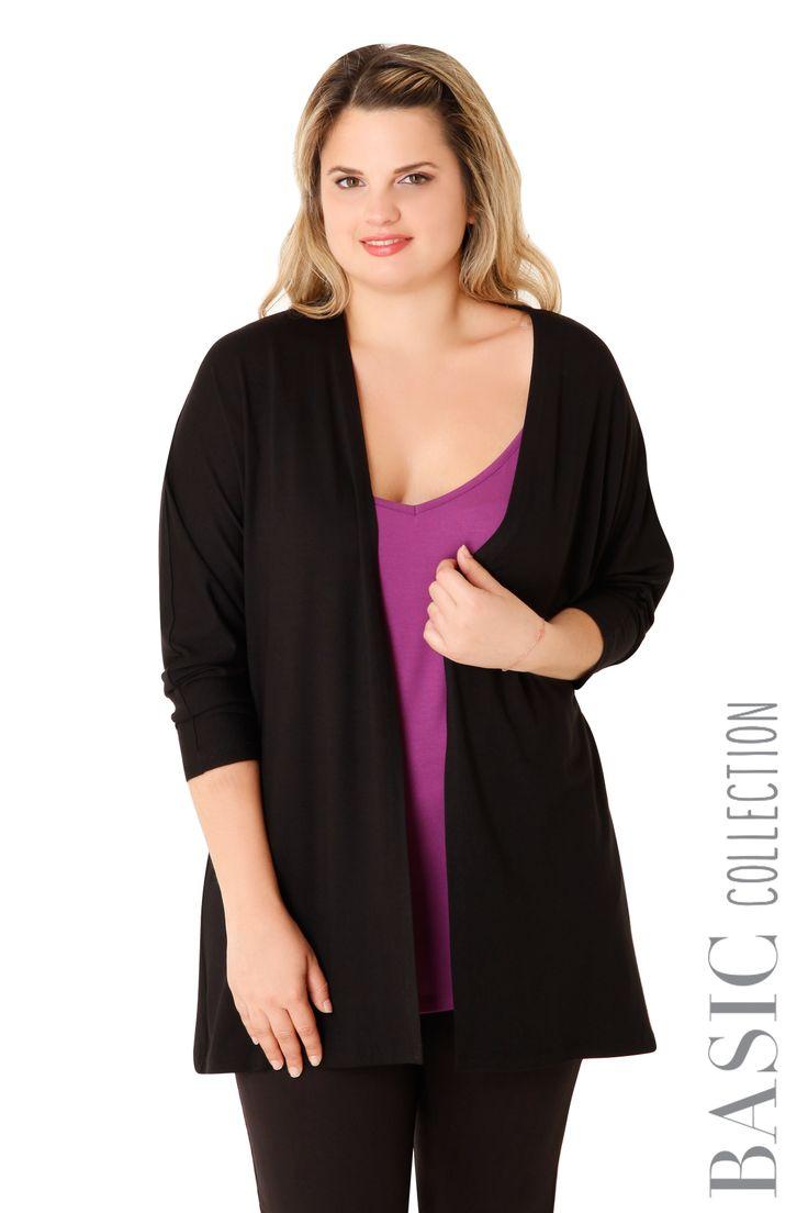 Βισκόζ μακριά ζακέτα - Ρούχα | XLcloset