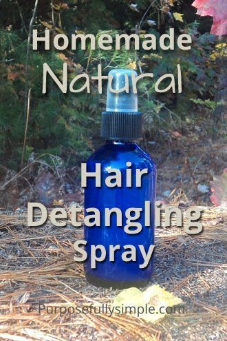 Homemade Natural Hair Detangling Spray - Make your own hair detangling spray wit...