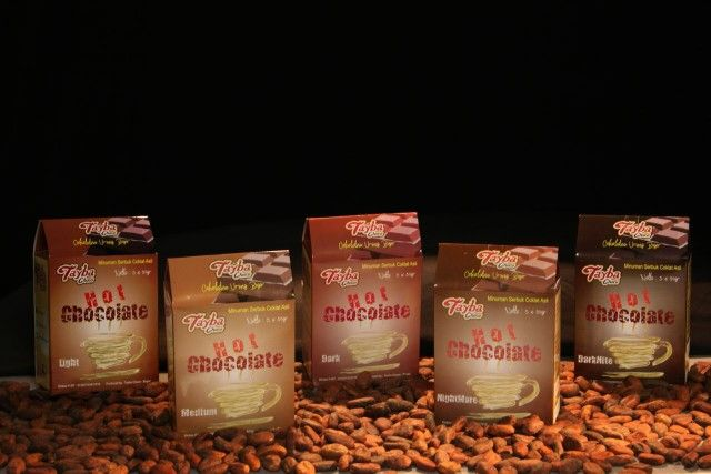 Hot chocolate 5 varian level made in bogor indonesia 4$/box