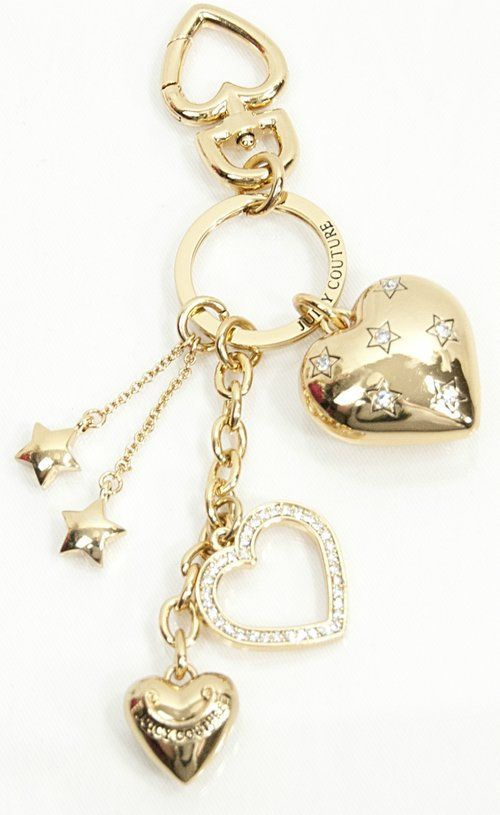 new without tags, Juicy Couture gold tone key chain, hearts and stars, so pretty! great Christmas gift! will ship right away