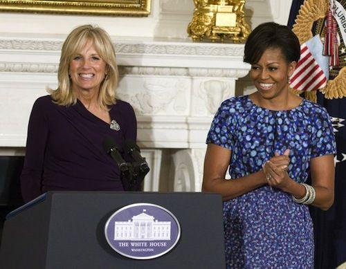 Mrs Obama wearing Peter Som
