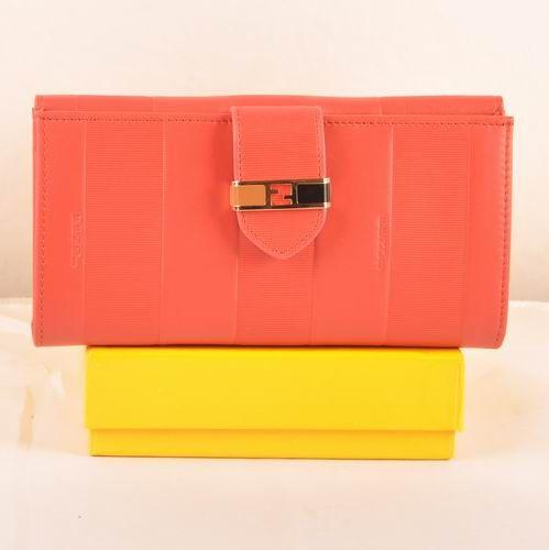 Fendi Cherry Soft Calfskin Leather Bi-fold Wallet       $129.00