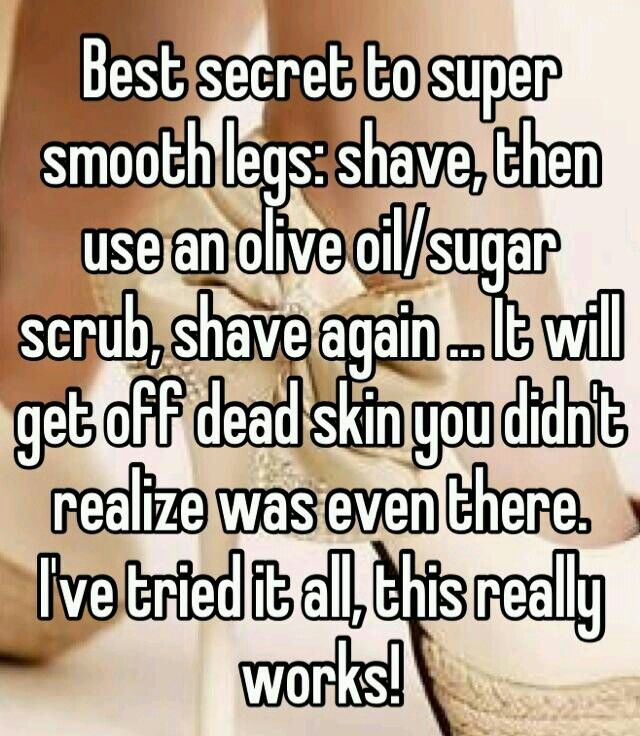 Best secret to super smooth legs