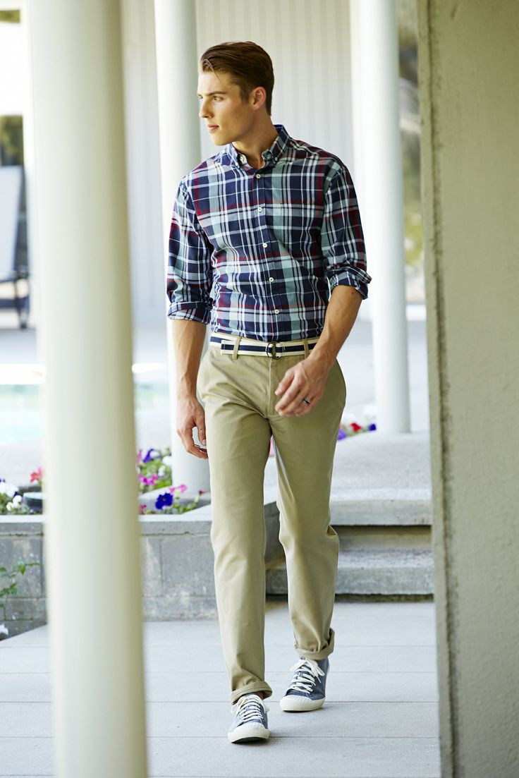 Khaki Pants Plaid Shirt - Jon Jean