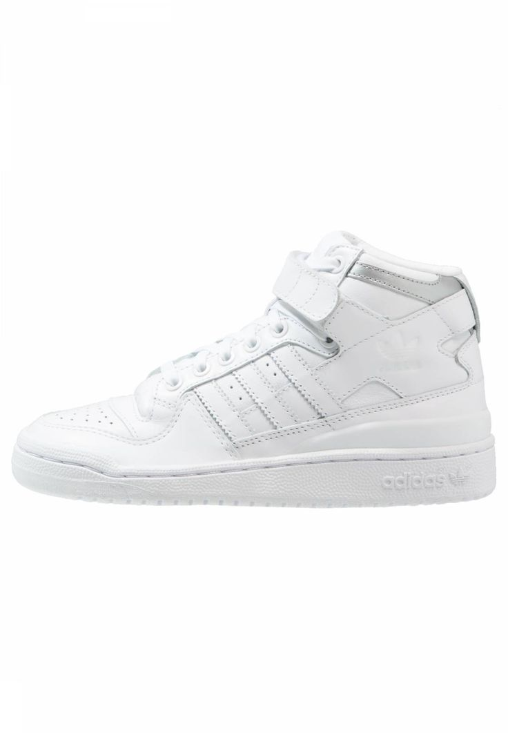 adidas Originals. FORUM MID REFINED - High-top trainers - white. Pattern:plain. Sole:synthetics. Padding type:Cold padding. Shoe tip:round. Heel type:flat. Lining:textile. shoe fastener:laces. Fabric:Synthetic leather. upper material:leather and imitation leathe...