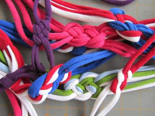 knotted jersey headband tutorial - perfect sweat bands! I would use elastic on the end for added stretch