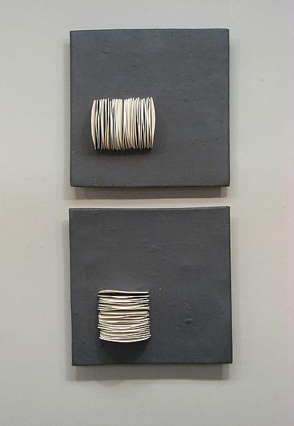 Pair of Dimensional Squares: Lori Katz: Ceramic Wall Art   Artful Home
