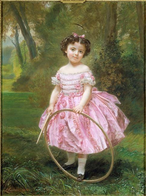 Mademoiselle Ehrler by Louis Antoine Léon Riesener, 1861, Musee du Petit-Palais: