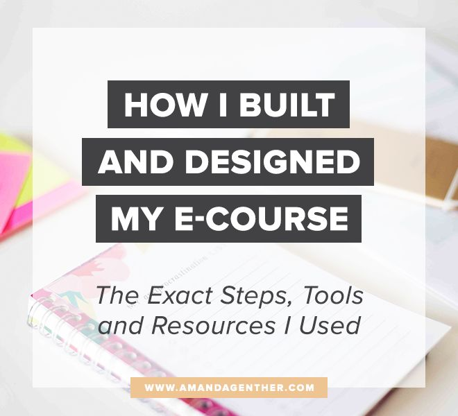 How I Built and Designed My E-Course: The Exact Steps, Tools and Resources I Used