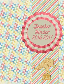 Sweet Carnival Theme Teacher Binder 2016-2017An elegant choice for your teacher binder...Includes: Cover 2016-2017AttendanceProfessional DevelopmentIEPs & 504sParent ContactsSub PlansCalendars and SchedulesFaculty Meeting NotesLesson PlansMathScienceSocial StudiesEnglish/Language ArtsWritingBenchmarksCommon CoreTo Do Lists...ObservationsParent InformationStudent PasswordsEmergency ProceduresStudent BirthdaysPacing GuidesClassroom NewslettersDaily 5ReadingSight WordsSpellingWord WorkVocabu...