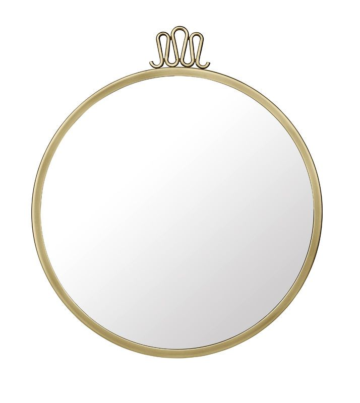 GUBI // Randaccio mirror in antique brass and Ø42 cm by Gio Ponti
