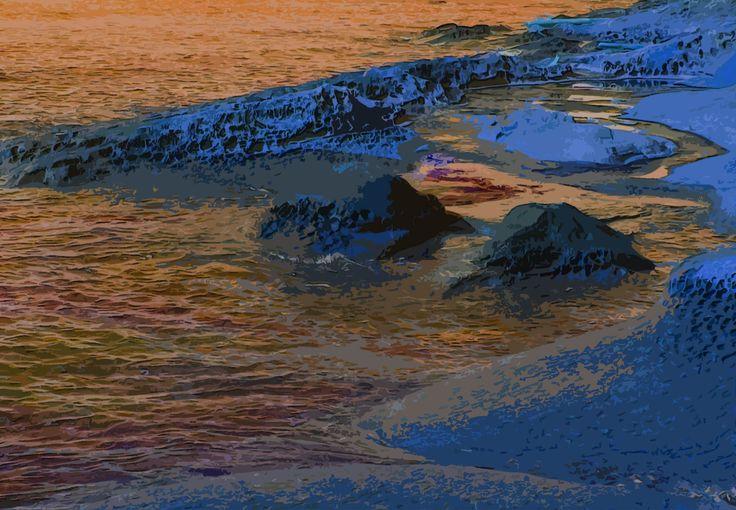Ocean meets bumps & humps, Gabriola, BC