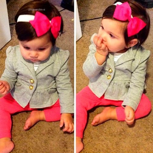 baby blazer and leggings....seriously cutest thing ever