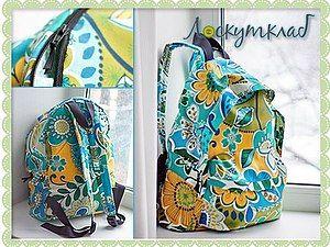 Модный летний рюкзак своими руками | Ярмарка Мастеров - ручная работа, handmade