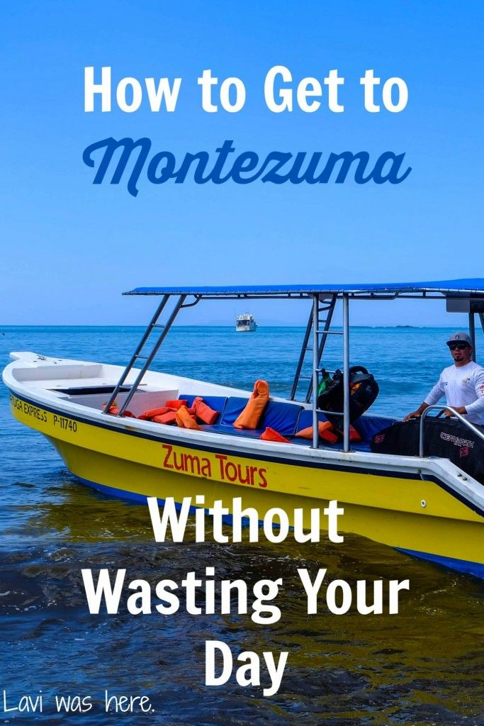 How to Get to Montezuma Without Wasting Your Day | Montezuma is such a cute little Costa Rican beach town, but it's hard to get there. Zuma Tours has a taxi boat service straight to Montezuma from Jacó.