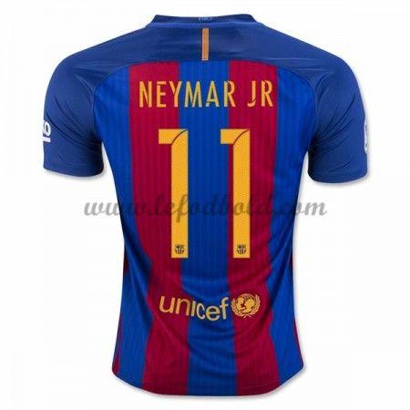 Billige Fodboldtrøjer Barcelona 2016-17 Neymar Jr 11 Kortærmet Hjemmebanetrøje