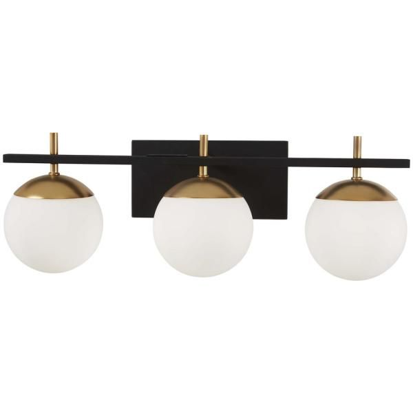 George Kovacs Alluria 3 Light Weathered Black With Autumn Gold