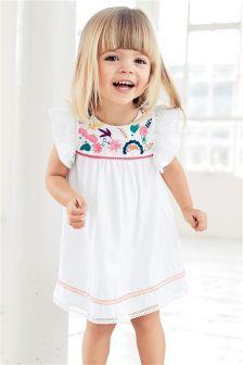 Vestido bordado (3 meses-6 años)
