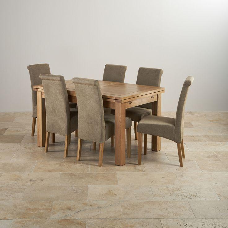 Dorset Natural Solid Oak Dining Set - 4ft 7