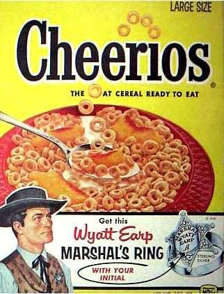 Cheerios cereal  Wyatt Earp offer  c. 1957