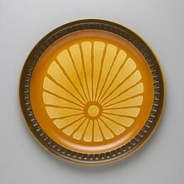 'Brown Tapestry' from the Suzuka Stoneware series, made by Haruta, Japan, c.1980 - Powerhouse Museum Collection