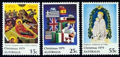 Christmas 1979 - Australia Mint Set of 3 Stamps