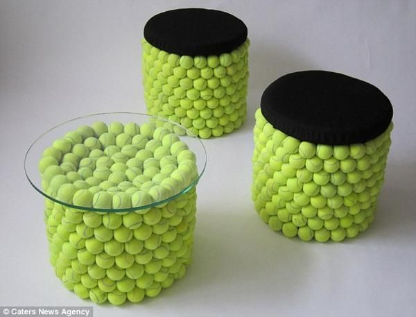 come riciclare le palline da tennis